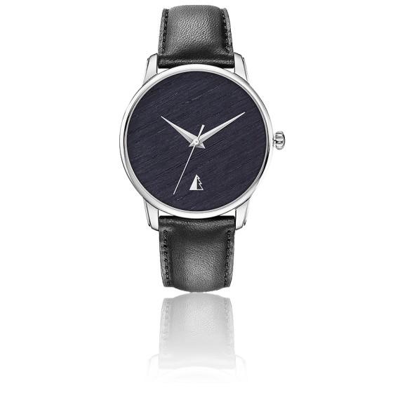 Originelle - Chêne teinté - Acier - Bracelet Noir