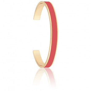 Bracelet Jonc Bangle Rose Blush Plaqué Or Jaune