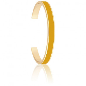Bracelet Jonc Bangle Jaune Safran Plaqué Or Jaune