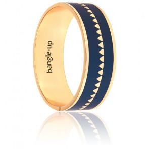 Bracelet Bollystud Ornementé Bleu Nuit Plaqué Or Jaune