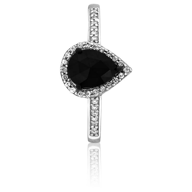 bague black pear diamant noir 1 00 ct kundan ocarat. Black Bedroom Furniture Sets. Home Design Ideas