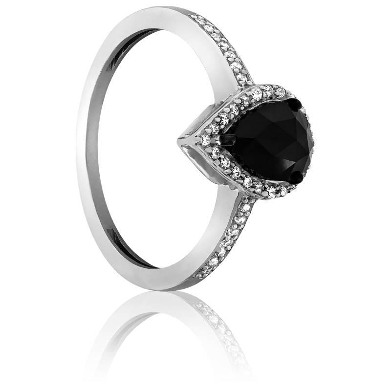 Bien connu Bague Black Pear Diamant noir 1,00 ct - Kundan - Ocarat FB28