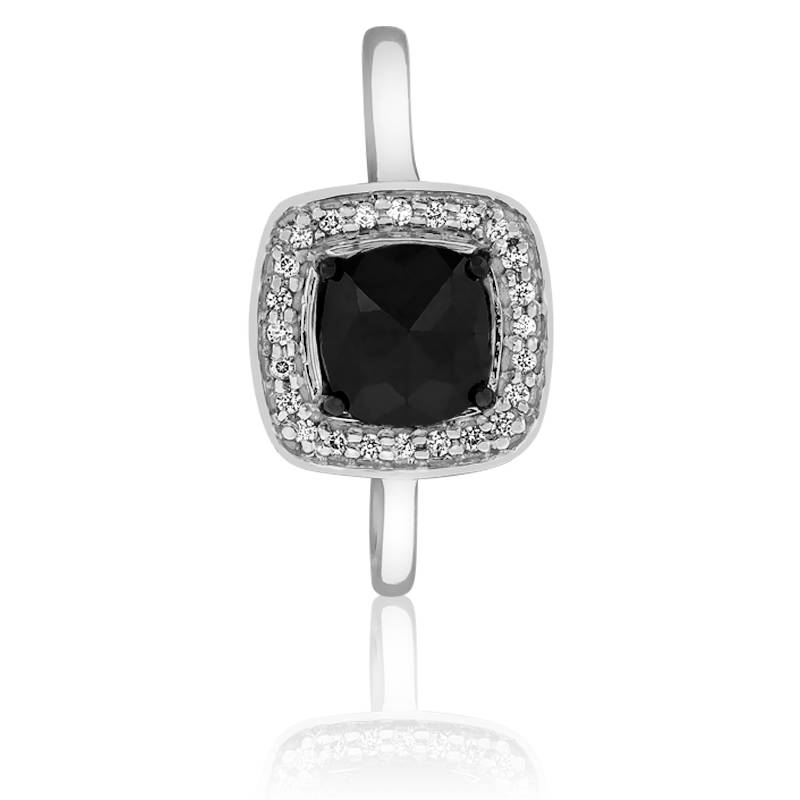 Très Bague Black Cushion, Diamant noir - Kundan - Ocarat HC84