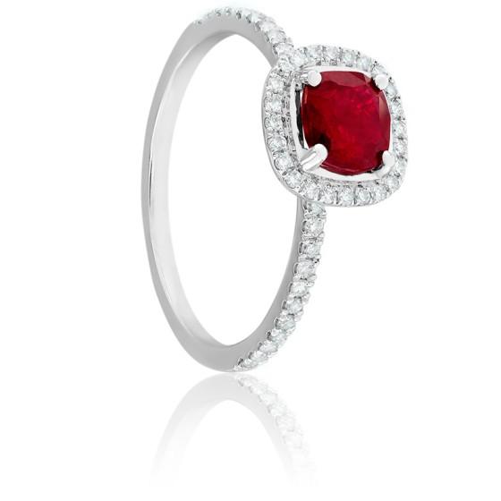 Bague Magdalena Rubis, Diamants & Or Blanc 18K
