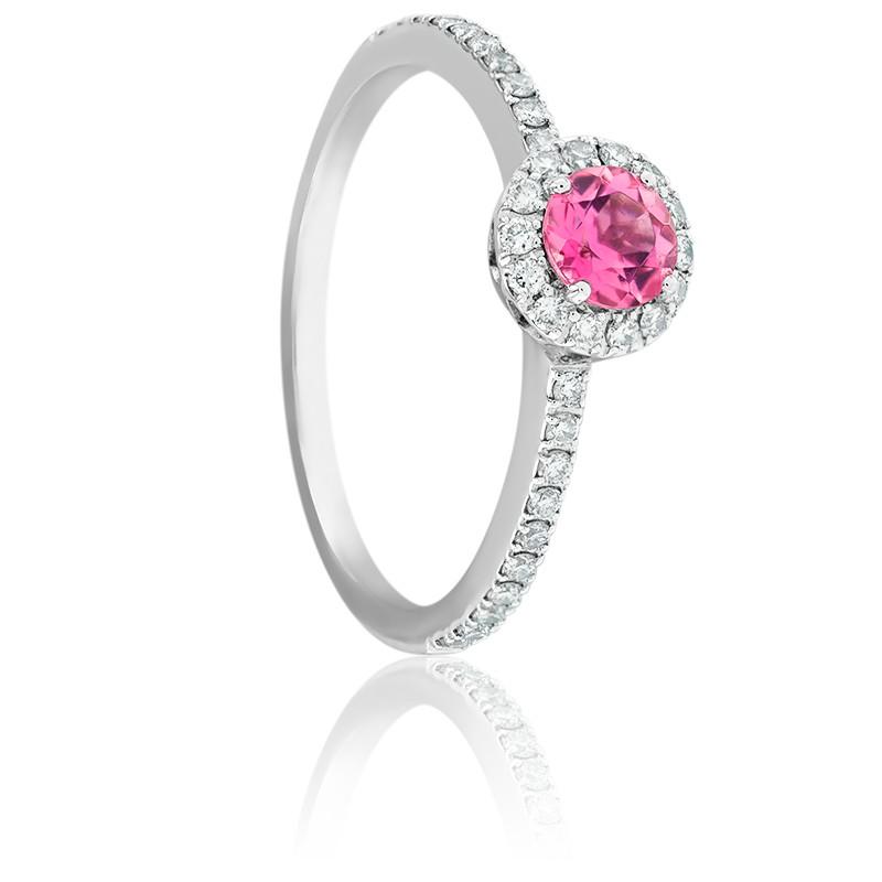Bague Soleilka, Or Blanc 18K, Tourmaline & Diamants