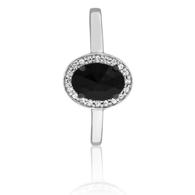 Célèbre Bague Dark Oval, Diamant noir 0.60 carat - Kundan - Ocarat FB34