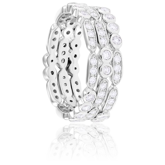Bague Karen Diamants & Or Blanc 18K