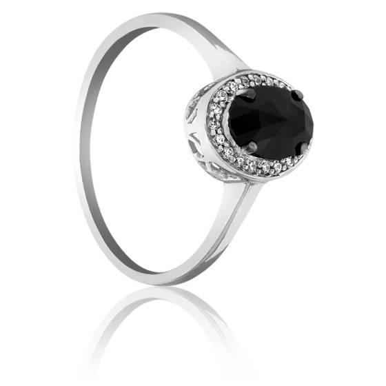 Super Bague Dark Oval, Diamant noir 0.60 carat - Kundan - Ocarat SI52