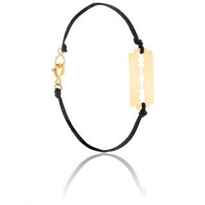 Bracelet Cordon Lame de Rasoir Or Jaune 9K