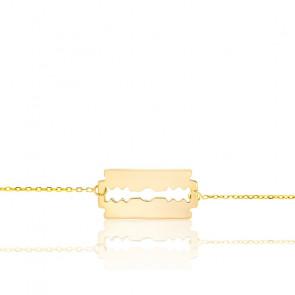 Bracelet Lame de Rasoir Or Jaune 9K
