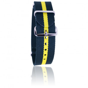 Bracelet Nato Vert foncé/jaune