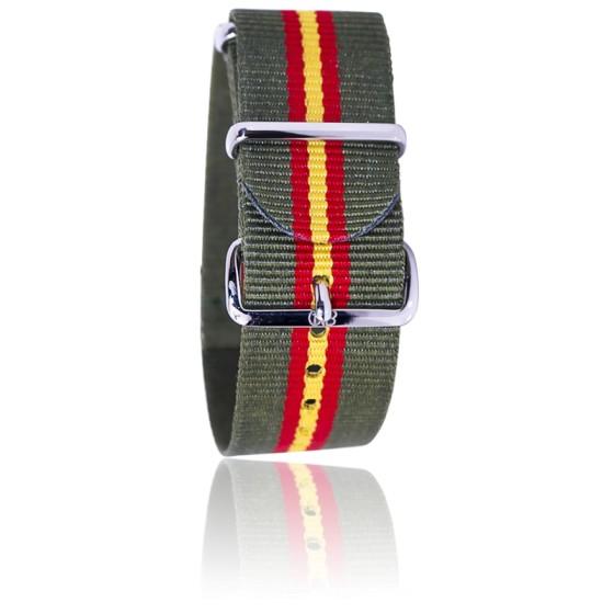 Bracelet Kaki/rouge/jaune