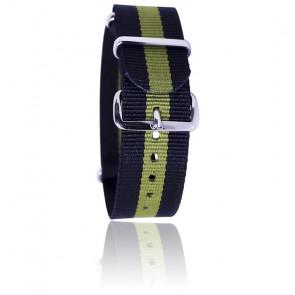 Bracelet Nato Noir/kaki