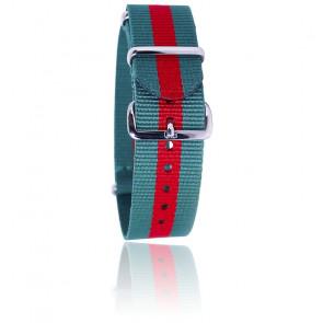 Bracelet Nato Vert/rouge