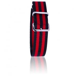 Bracelet James Bond - Noir/Rouge