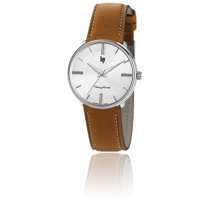 Dauphine 34 mm Silver/Brown Leather 671918