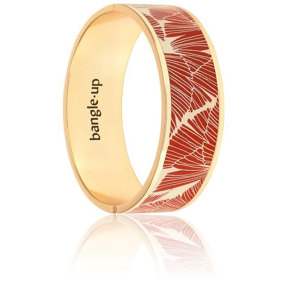 Bracelet Joy Blanc Sable & Roux Plaqué Or Jaune