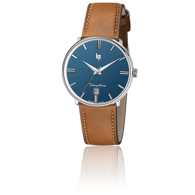Dauphine 38 mm Blue/Brown Leather 671429