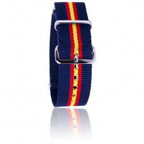 Bracelet Nato Bleu/rouge/jaune