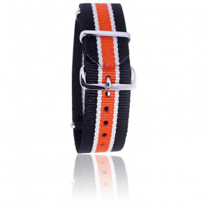 Bracelet Noir/beige/orange