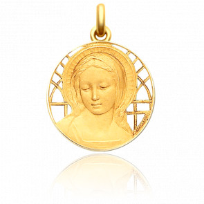 Médaille Vierge Amabilis Ajourée Or Jaune 18K