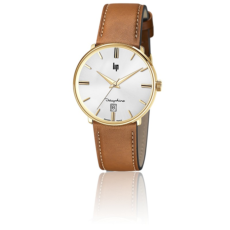 Dauphine 38 mm Gold/ Leather 671428