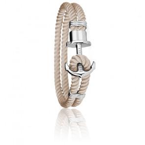 Bracelet Ancre PHREP Acier, Nylon Noisette