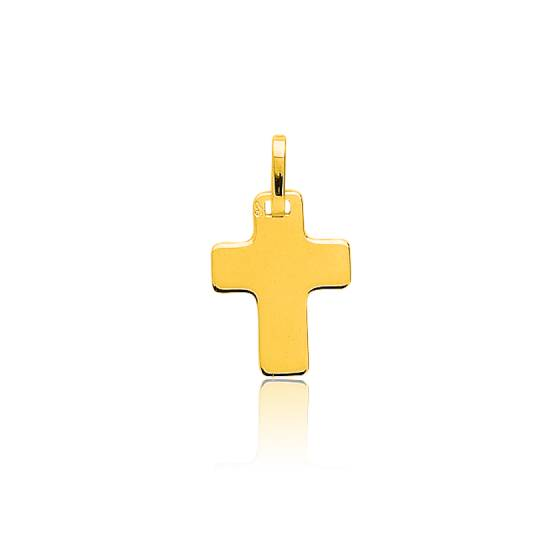 Croix Plate 14 x 24 mm Or Jaune