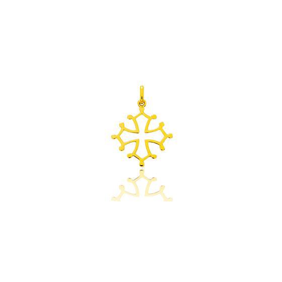 Croix Occitane Ajourée Or Jaune 18K
