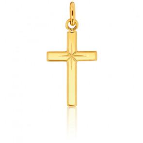 Croix à l'Etoile 12 x 23 Or Jaune 18K