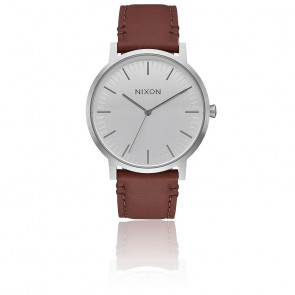 The Porter Leather Silver / Brown A1058-1113