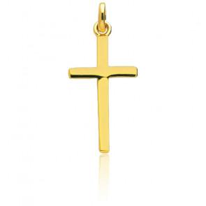 Croix Section Carrée Or Jaune 18K
