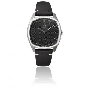 Decagon / Steel / Black / Black Leather K01005