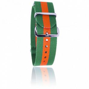 Bracelet Nato Vert/orange