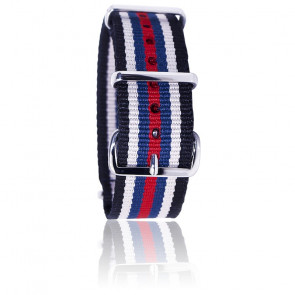 Bracelet Nato Colorado Noir/beige/bleu/rouge