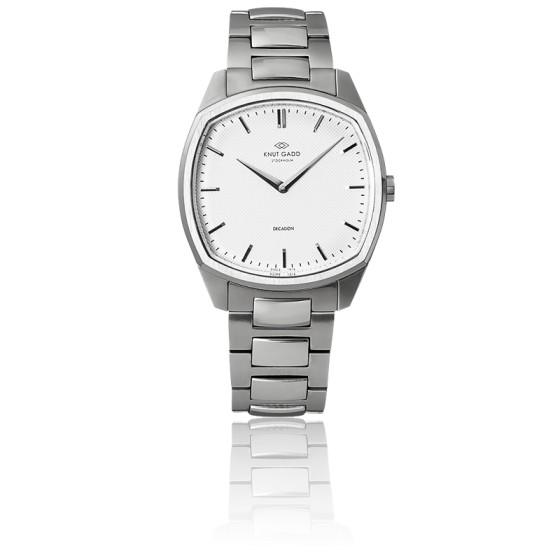 Decagon / Steel / White / Steel bracelet K01004