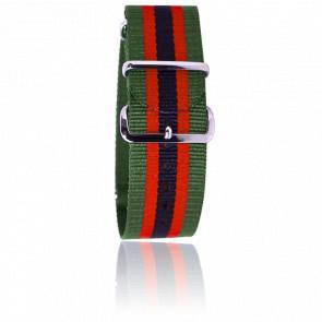 Bracelet Nato Vert/rouge/noir