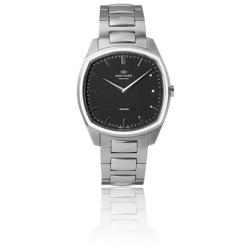 Decagon / Steel / Black / Steel bracelet K01006