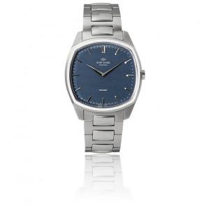 Decagon / Steel / Blue / Steel bracelet K01007