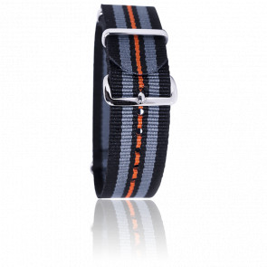 Bracelet Noir/gris/orange