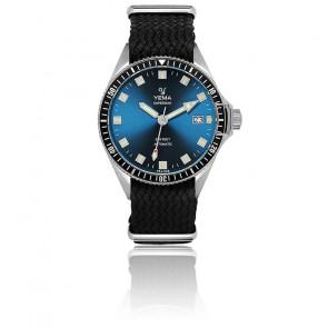 Superman Lagoon Automatique Bracelet Perlon Noir YMHF1557A-GSP01