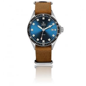 Superman Lagoon Bracelet Nato Cuir Gold YMHF1551-GSN04