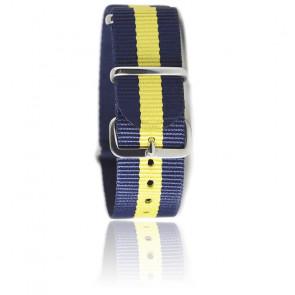 Bracelet Nato Bleu marine/jaune vif