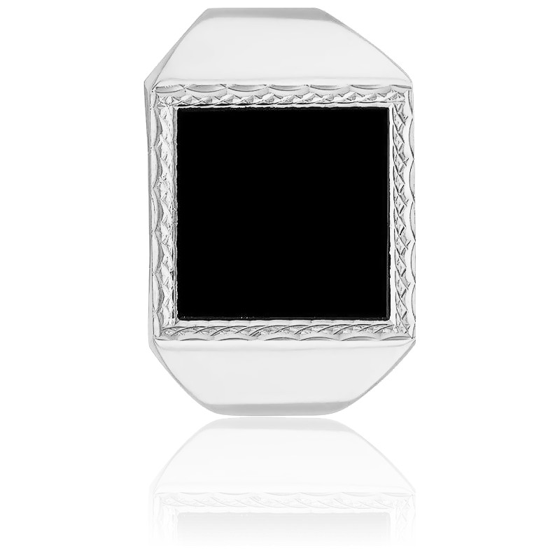 chevali re carr e onyx or blanc 9k lucas lucor ocarat. Black Bedroom Furniture Sets. Home Design Ideas