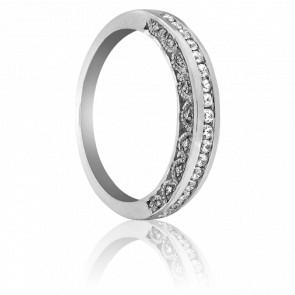 Bague Kâveri Or Blanc et Diamants - Kundan