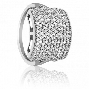 Bague Ghaggar Or Blanc et Diamants