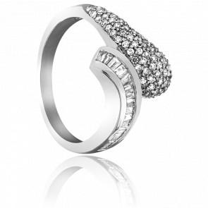 Bague Ghâghra Or Blanc et Diamants