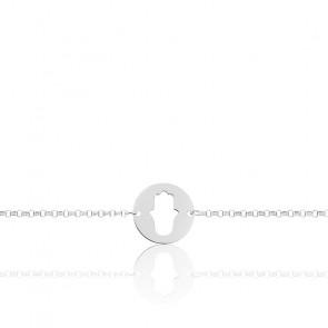 Bracelet Main de Fatma Or Blanc 18K