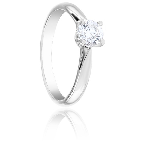 Bague Solitaire Holly Diamant & Or Blanc 18K