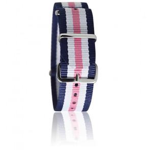 Bracelet navy/blanc/rose